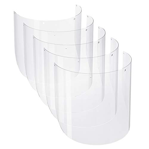 5-Pack of Reusable Replacement Visors for the NoCry Protective Safety Face Shield; Lightweight, Made with Clear, Transparent Plastic to Cover and Protect Your Face