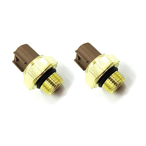 Decorel Termostato de Agua de refrigerante del radiador eléctrico de 2 Piezas Interruptores de termostato de Temperatura del Agua Temp Sensor Ajuste para Yamaha Suzuki Kawasaki (Color : 2 Piece)