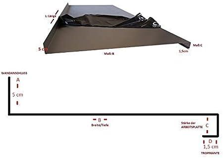 Edelstahl Abdeckplatte K240 Edelstahltisch Gastrotisch 0,8mm Abdeckung f/ür 70 cm K/üchenarbeitsplatte 4 cm stark 230 cm lang 2300mm