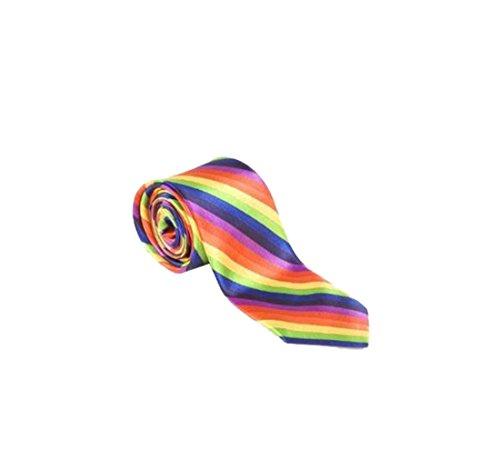 Cravate rétro fine arc-en-ciel Gay Pride