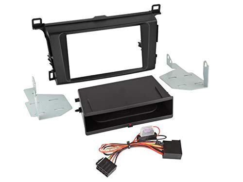 Facade autoradio 2DIN pour Toyota RAV 4 ap13 Avec vide poche Inbay Noir - ADNAuto
