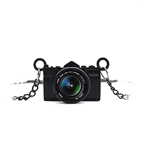 Colgante Cámara de Fotos Réflex Retro con lente objetivo de crital y cadena clásica vintage de 80 centímetros