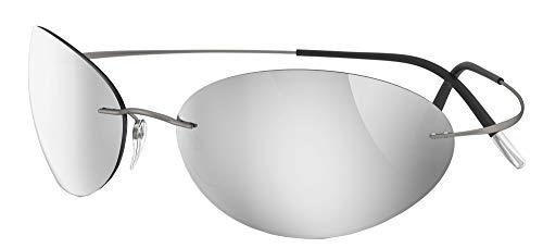 silhouette occhiali Silhouette Occhiali da Sole TMA MUST 8714 Ruthenium/Glossy Silver taglia unica unisex