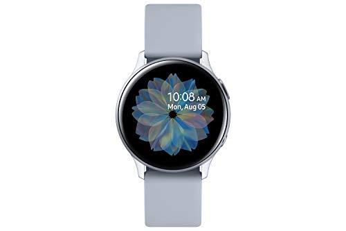 Samsung Galaxy Watch Active2, Fitnesstracker aus Aluminium, großes Display, ausdauernder Akku, wassergeschützt, 40 mm, Bluetooth, Silber