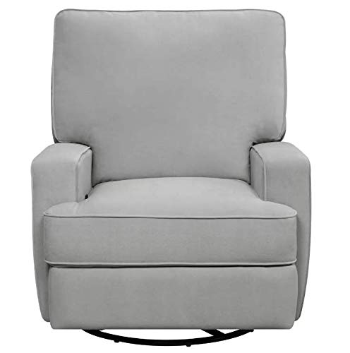 Luann Swivel Armrest Gliding Recliner - Baby Relax (Gray)