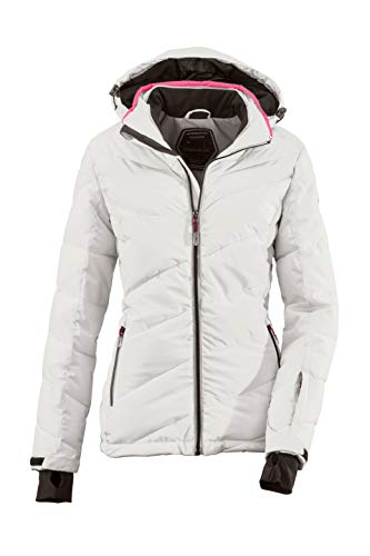 Killtec Damen Ocisa Skijacke In Daunenoptik Mit Abzippbarer Kapuze Und Schneefang, 10.000 Mm Wassersäule, Hellgrau, 38