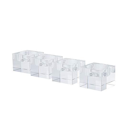 DecentGadget - Portacandele in cristallo K9 da 4 cm, 4 pezzi, 4 cm, 4 cm, 4 cm, 4 cm, 4 cm, 4 cm e 4 cm