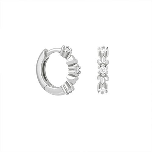 SEARCH Orecchini a cerchio con Fiore in Pietra Bianca Orecchini da Donna per gioielli da sposa Cartilagine-2