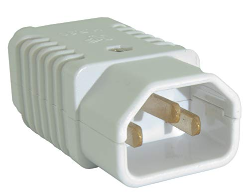 CDL Micro IEC C13/C14 'Kettle' Lead Male Socket Connector Plug Re-wireable 250v - WHITE