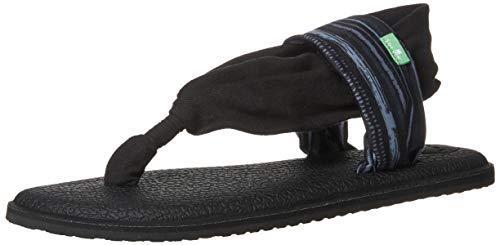 Sanuk Damen Yoga Sling 2 Sandale, Key-Ranch, Schwarz, 39 EU