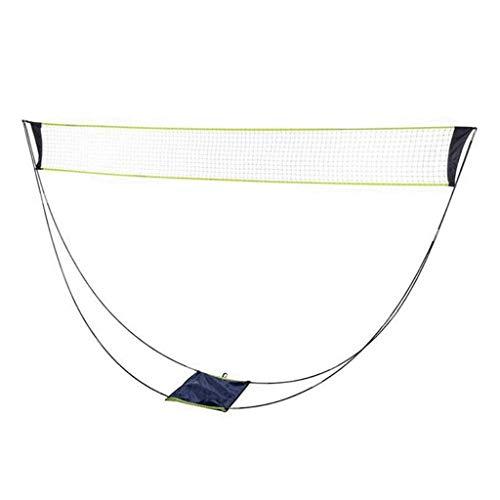 DALUXE Tragbare Badminton-Netz mit Ständer Tragetasche Folding Volleyball Tennis Badminton Net Easy Setup für Outdoor Indoor