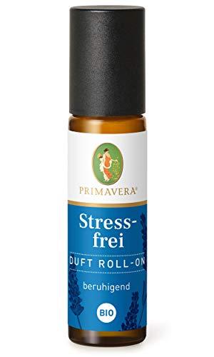 PRIMAVERA Duft Roll-On Stressfrei bio 10 ml - Lavendel - Aromaöl, Duftöl, Aromatherapie für unterwegs - beruhigend - vegan
