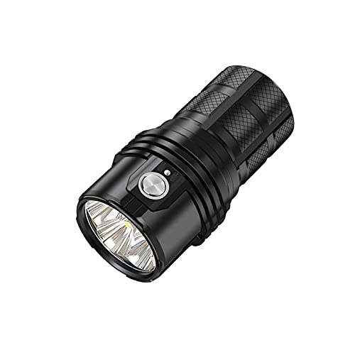 JPVNALZ Powerful Flashlight Professional Rechargeable 25000LM Outdoor Lighting Led Flashlight (Color : Black, Size : Warm Light)