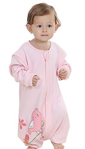 Pasen Baby Alle Seizoen Slaapzak Met Benen Unwraps Lange Mouw Eenvoudige Stijl Unisex Kleine Kinderen Zomer Slaapzak Baby Romper Pyjama Katoen (Blue Label80 Body Size 85 95Cm)