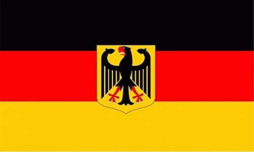 Fahne Flagge Deutschland mit Adler 60x90 cm Hißfahne Hissfahne mit Ösen Flaggen Querformat Fanfahne