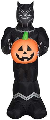 Gemmy 3.5' Airblown Black Panther w/Pumpkin Halloween Inflatable
