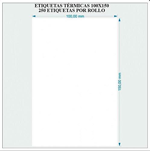 Chifans Papel de Etiquetas Adhesivo, Sello de Etiquetas, Papel térmico de impresión de Papel de código de Barras (100 x 100 mm, 100 x 150 mm)