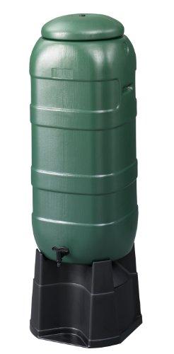 Straight Plc Depósito de Lluvia para jardín (100 litros, Incluye Tapa, pie y Grifo)