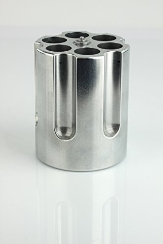 Product Image 15: Barbuzzo Gun Cylinder Pen Holder & Paper Weight, Silver- Lock & Load Your Favorite Pens and Pencils at your Office Desk – The Perfect Office Accessory & Gift – Made Out of Heavy Duty Cast Aluminum
