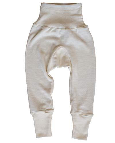 Cosilana Baby Hose lang mit Bund, 70% Merinoschurwolle, 30% Seide (Natur, 50/56)