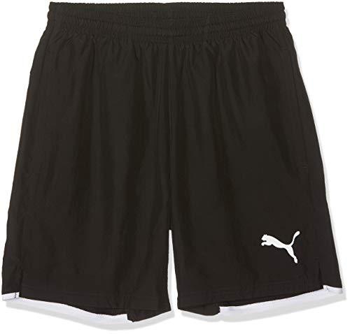 PUMA Kinder Hose Leisure Shorts, Black/White, 128
