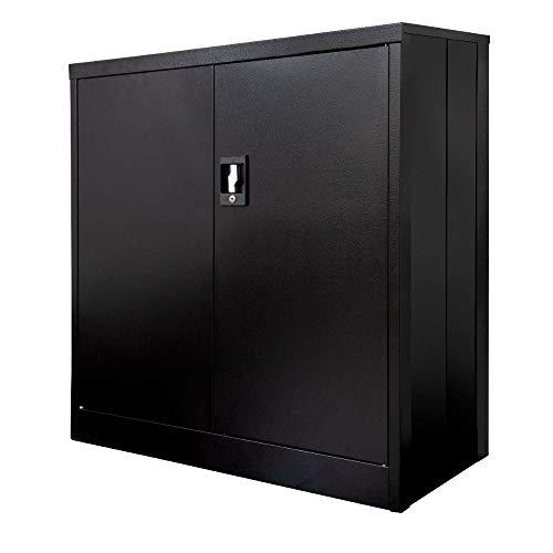 "Luxor 36"" Folding Two-Shelf Metal Storage Cabinet"