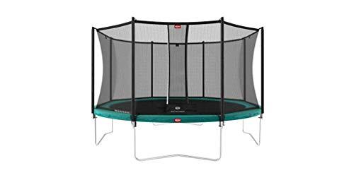 BERG Favorit Regular 430 14ft Trampoline Green + Safety Net Comfort Trampoline