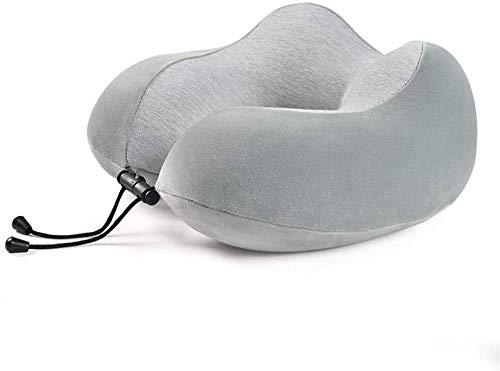 HUIXINLIANG Almohada de viaje de espuma de memoria  Almohada de cuello, almohadas de viaje ajustables con máscara de sueño y tapones para los oídos, evitan que las cabezas caigan hacia adelante, debe
