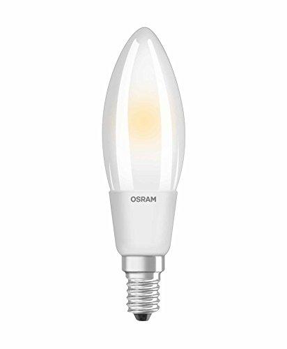 Osram Ampoule LED à Filament Dépolie   Culot E14   Forme Flamme   Dimmable   Blanc Chaud 2700K   5W (équivalent 40W)