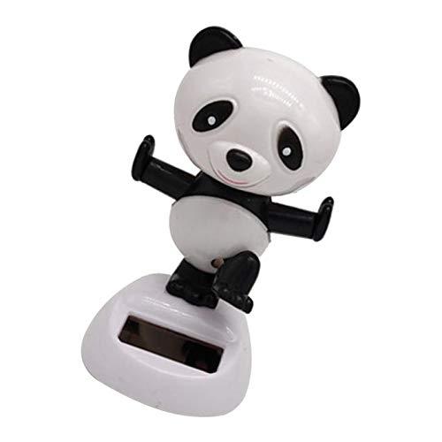 perfeclan Panda Figur Solarfigur Wackelfigur Solar Deko Figur Wackeltier Dekoration