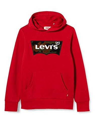 Levi's Kids Lvb Chenille Batwing Hoodie Sudadera Niños Chili Pepper/Camo 14 años