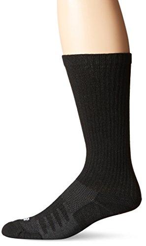 New Balance Unisex 1 Pack Wellness Casual Walker Socks, Medium, Black