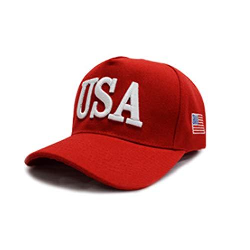Queenhairs Unisex Adult Präsident Trump 2020 Kampagne Baseball Cap USA 45 amerikanische Flagge Bestickt Trucker Hat 5 Farben
