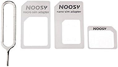 Mit Adaptadores para Tarjeta SIM, microSIM y nanoSIM, 4 en 1 (Incluye púa metálica para Abrir Bandeja del Smartphone/Tablet): Amazon.es: Electrónica