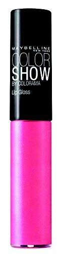 Maybelline New York Make-Up Lipgloss Colorama Pretty Pink / Neon Pink für einen glänzenden...