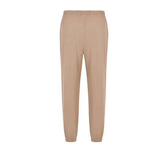 Pantalones Harem Finos De Lino Imitado para Mujer De Primavera/Verano Pantalones Sueltos Recortados A La Moda