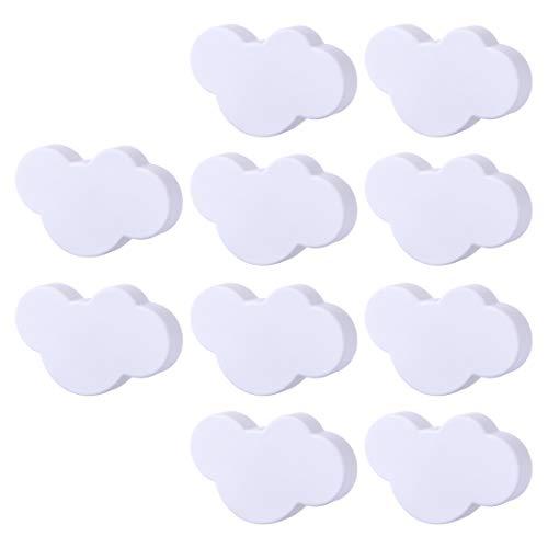 Yavso Pomelli per Mobili Bambini, 10 Pezzi Nuvola Pomelli per Cassetti Maniglie per Mobili dei Cameretta Bambini