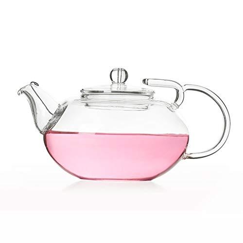 GAODD Teiera in Vetro da 350 Ml Teiera Piccola Colino da tè con Filtro A Spirale per tè Sfuso E tè in Fiore(Size:350ml)