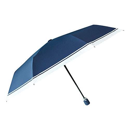 KK Timo Paraguas Compacto Plegable Paraguas Paraguas Paraguas Automático Paraguas Paraguas Paraguas Indestructible para Mujeres Azul