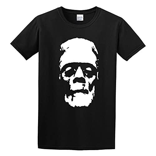 Frankensteins Monster Boris KarlOf f Vintage Horror Film Graphic Top Printed Shirt Short Sleeve tee Mens T Shirt Black M