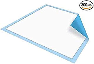 Platinum Care Pads Disposable Underpads Size 17X24 Case of 300 Blue and White Great for Changing Table and Surfaces