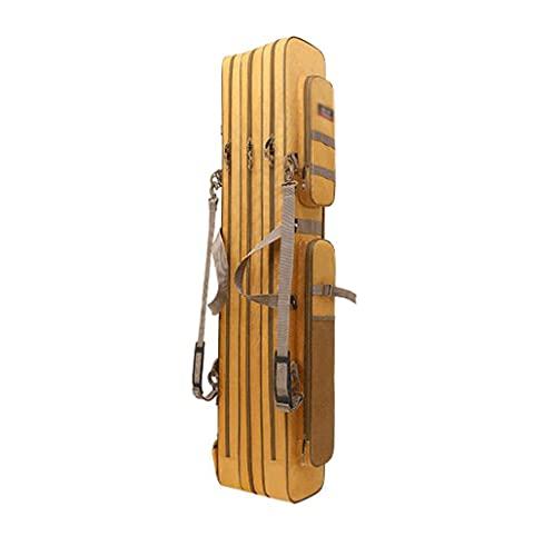 屋外の釣り袋携帯用釣り竿バッグ2/3大容量釣り竿タックルバッグ120X25X18CM そして120X18X17CM (Color : Khaki, サイズ : 120X17X18cm)