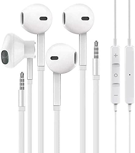 【2 Pack】 WEIZY Aux Earbuds/Earphones, 3.5mm Wired Headphones Noise Isolating Earphones Volume...