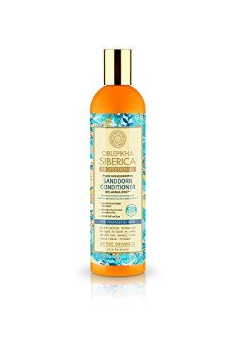 Natura Siberica Sanddorn Conditioner für strapaziertes Haar, Pflege und Regeneration, 1er Pack (1 x 400 ml)