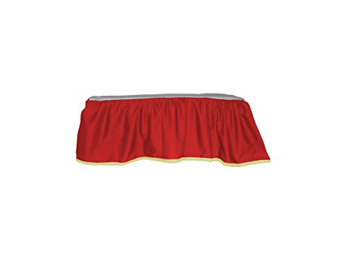 Baby Doll Bedding Solid Two Tone Crib Skirt/Dust Ruffle, Red/Yellow