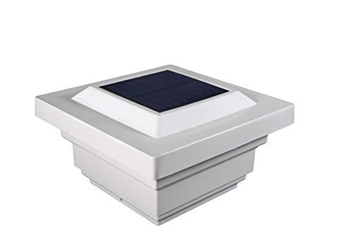 Classy Caps SL078W Regal PVC Solar Post Cap, 4
