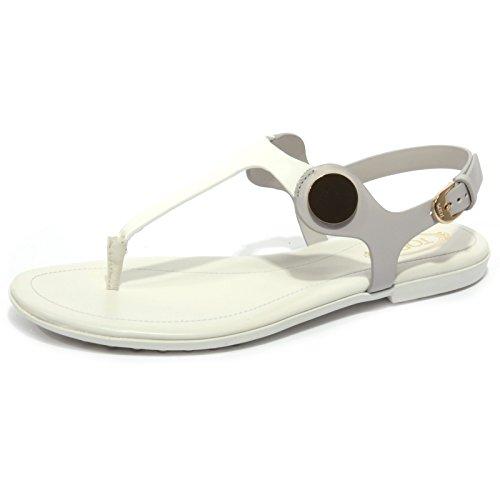 Tod's B1680 Infradito Donna Sandalo Grigio/Panna Flip Flops Shoe Woman [36]