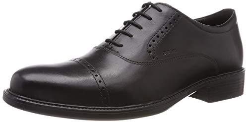 Geox Uomo Carnaby a, Zapatos Oxford para Hombre, Negro (Black C9999), 42 EU