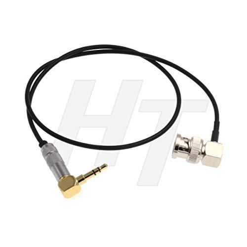 Bidirektionales Timecode-Kabel für DSLR-Kamera, rechtwinklig, 3,5 mm, TRS BNC, für Tentacle Sony F55 Canon C300 (vergoldeter Stecker)