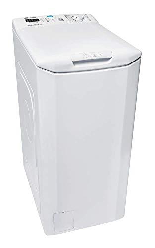 Candy CST 360L-S - Lavadora carga superior 6Kgs, 15 programas, 1000rpm, 40cm ancho, NFC, display digital, clase A+++AC, color blanco